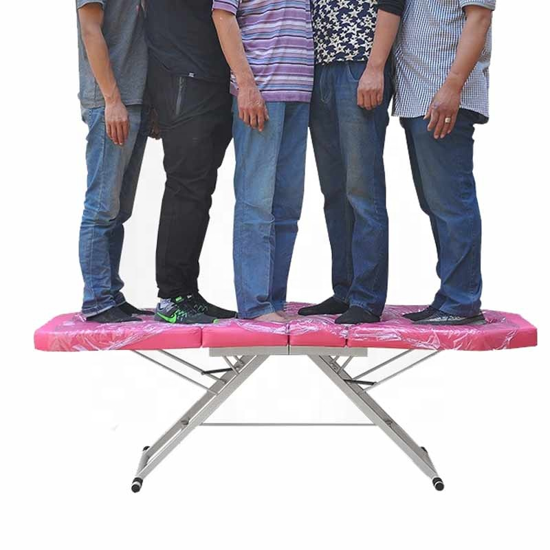 Hot sale Factory wholesale four-section folding beauty bed portable massage bed facial bed customizable massage table
