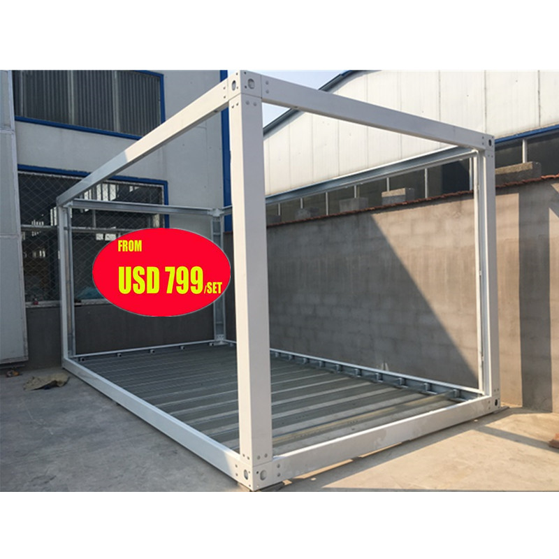 prefab flat pack mobile modular iso shipping container frames