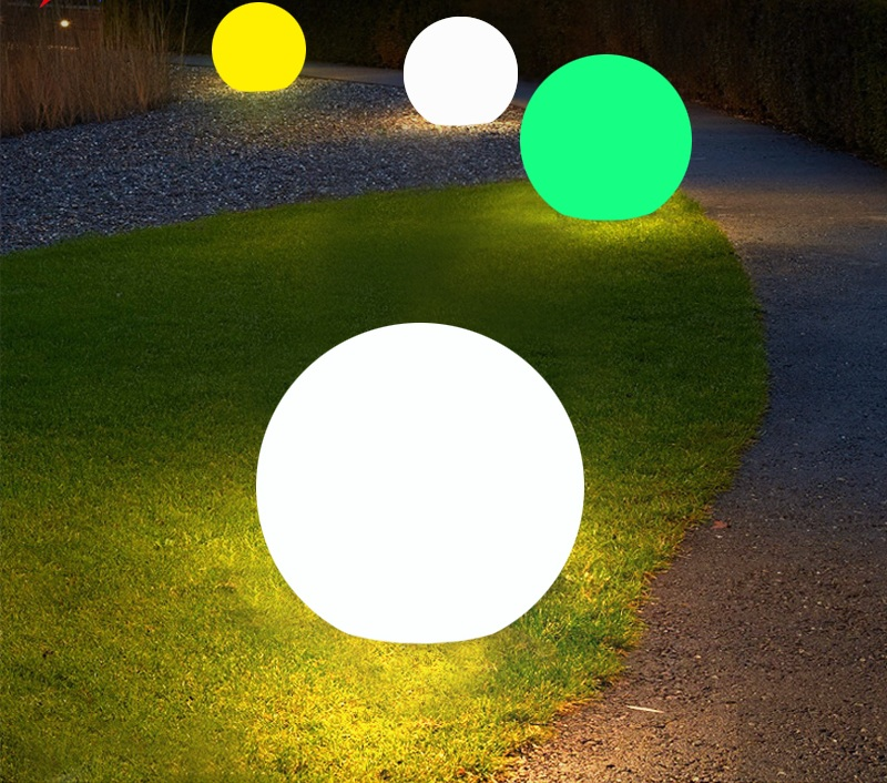 Solar ball light for garden decoration Hot sale plastic material solar garden stake ball outdoor led wall lights