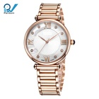 MOP dial luxury ladies fashion watch with quartz movement on fashion watch