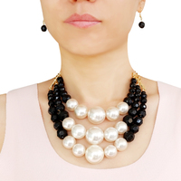 qingdao fashion chunky pearl statement necklace jewelry for women