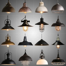 American Retro Industry Cafe Bar Chandelier Iron Vintage Pendant Lamp
