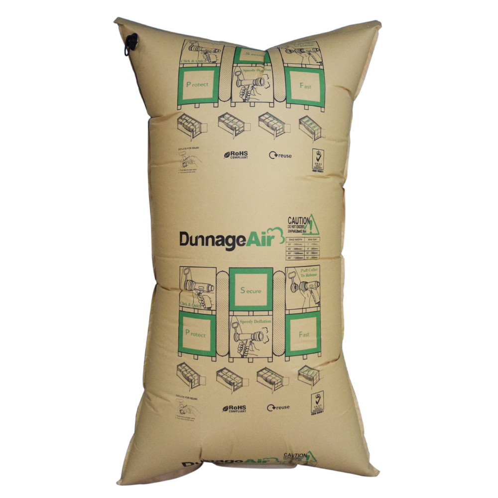 Eco-friendly PA films Inner Material and White Color Custom Printed container Kraft Paper Dunnage Bag