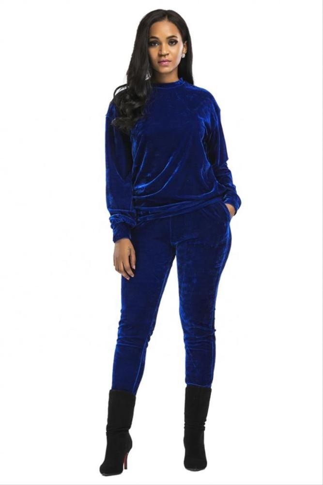 2020 Newest fashion Europe women hoody 2 piece stylish plain women tracksuit