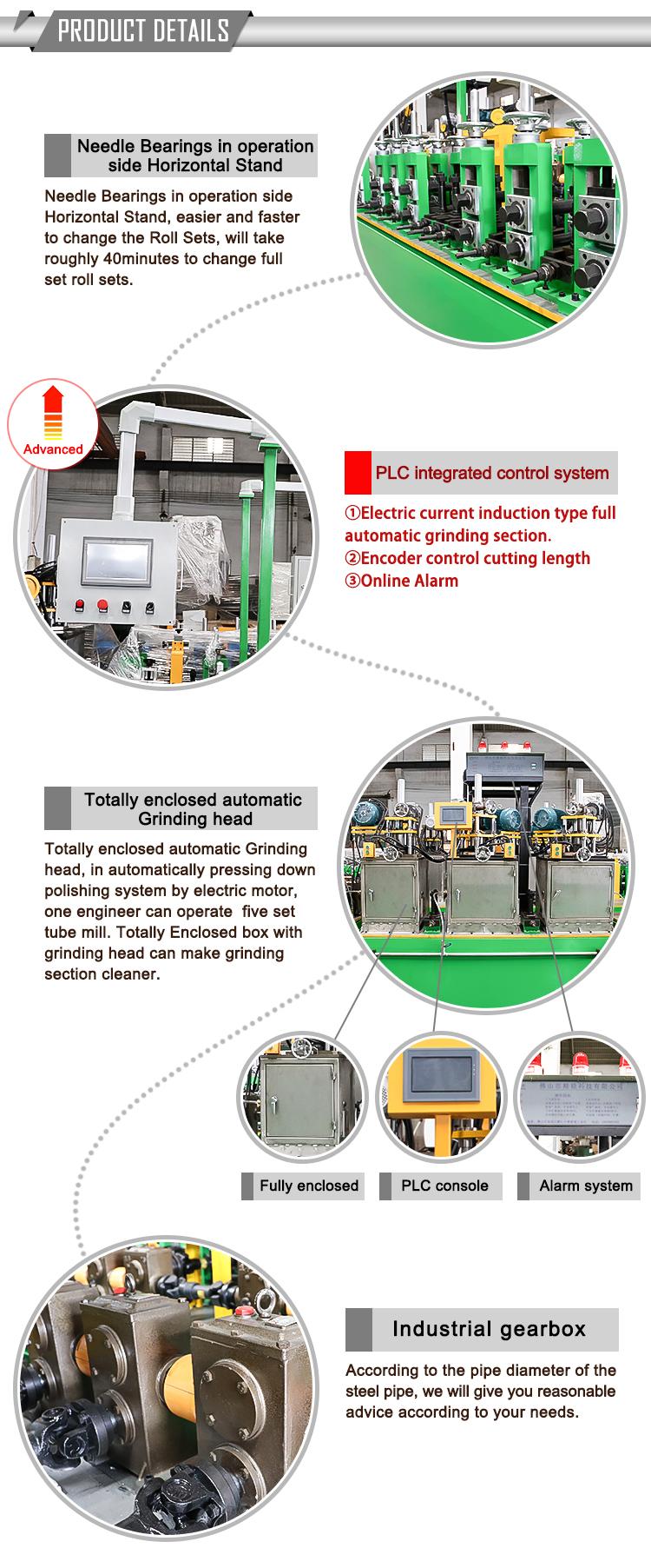 Küçük Çaplı Boru Makinesi kaynaklı boru Değirmeni