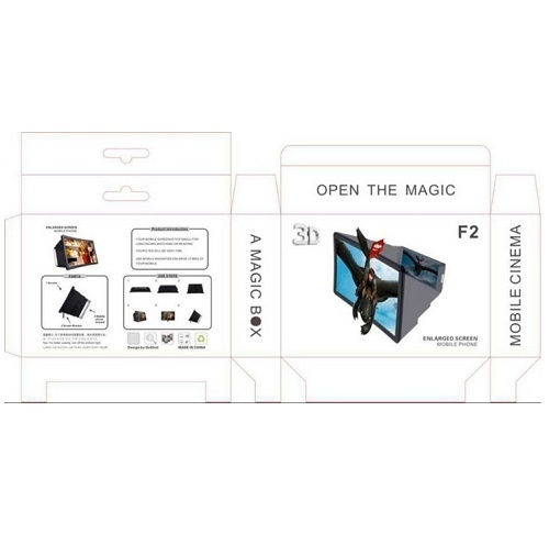 phone screen enlarger foldable 8.5 inch 3d curved surface mobile phone screen amplifier magnifier