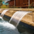 Garden Ornament Swimming Pool Wall Spillway Waterfall Blade Cascade With Led Light