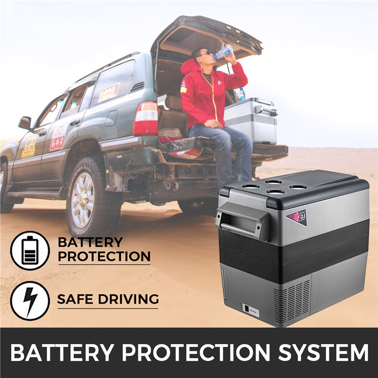Outdoor Camping In-Vehicle Fridges 12V/24V Battery Powered Car Refrigerator 55l