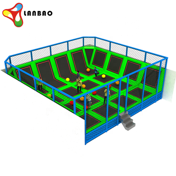 Kids Trampoline Jumping Bed Commercial Used Indoor Trampoline Park For Sale