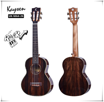 Classical Ukulele,26-inch Single Ukulele Ebony Rosewood Wood Painted 4 String Hawaii Guitar Musical Instrument