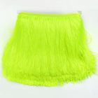 10 Meters Double Line 20cm Long Neon Color Chinlon Lace Trim Ribbon Sewing Fringe Tassel for Latin Dress Stage Clothes Curtain