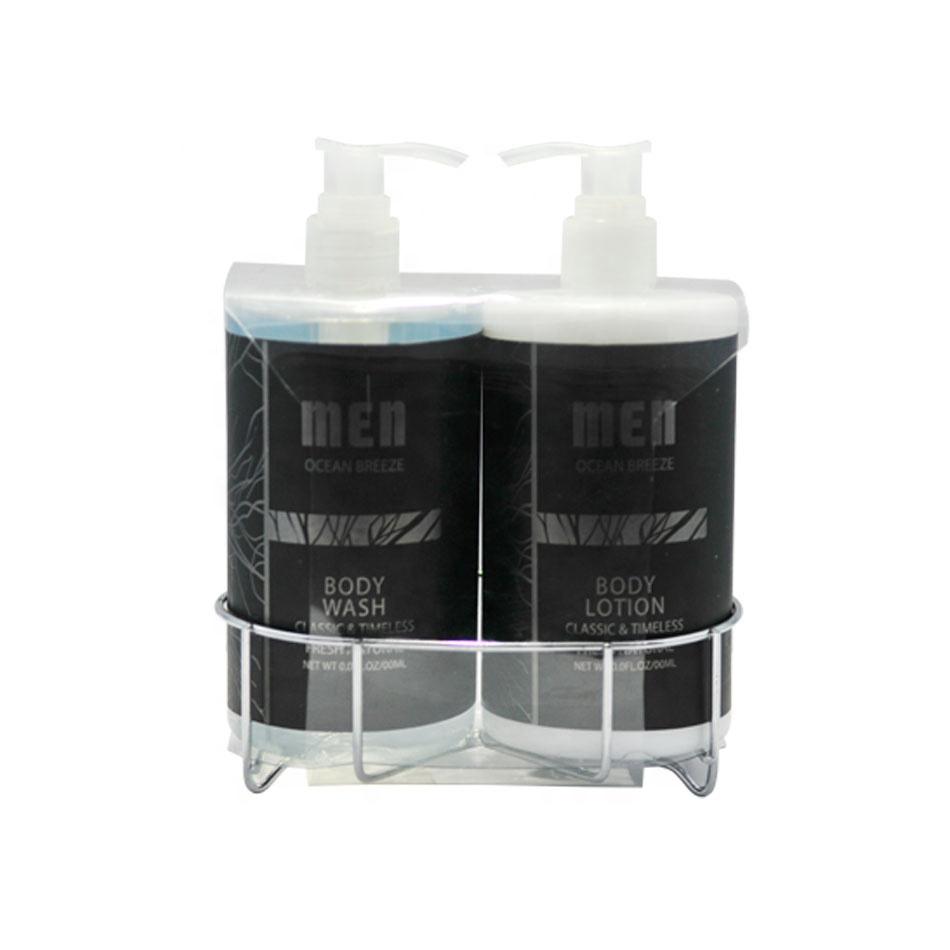 custom 500ml shower gel and body lotion set