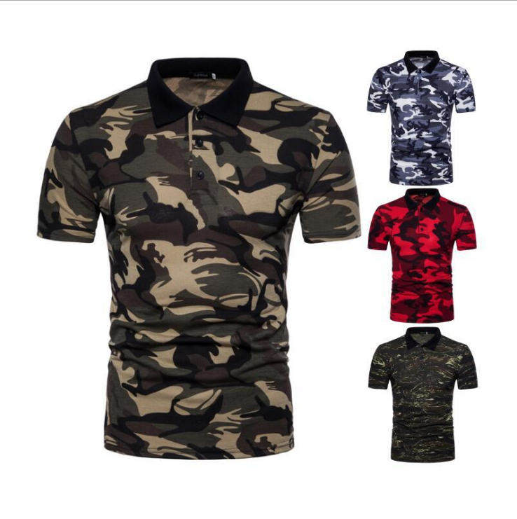 Camouflage Polo <strong>Shirts</strong> Men Short Sleeve Slim Printed Tee Top Fitness Fashion Male <strong>Shirts</strong> Plus Size Summer Casual Polos