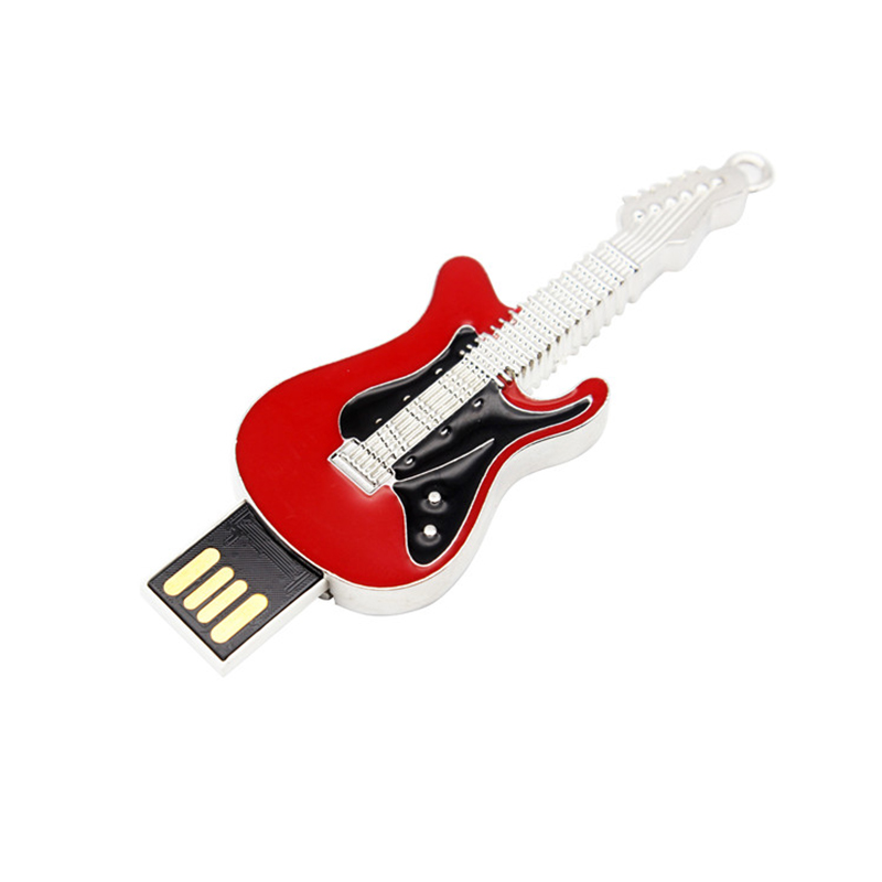 Crystal guitar shape usb memory sticks 2.0 8gb 16gb guitar usb drive <strong>flash</strong> 32gb 64gb with keychain Rock usb