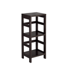 Best selling home decoration traditional 2 Shelf nut brown shoe wooden stand