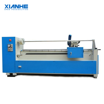 Automatic Apparel Fabric Leather Material Roll Round Knife Cloth Strip Cutting Machine