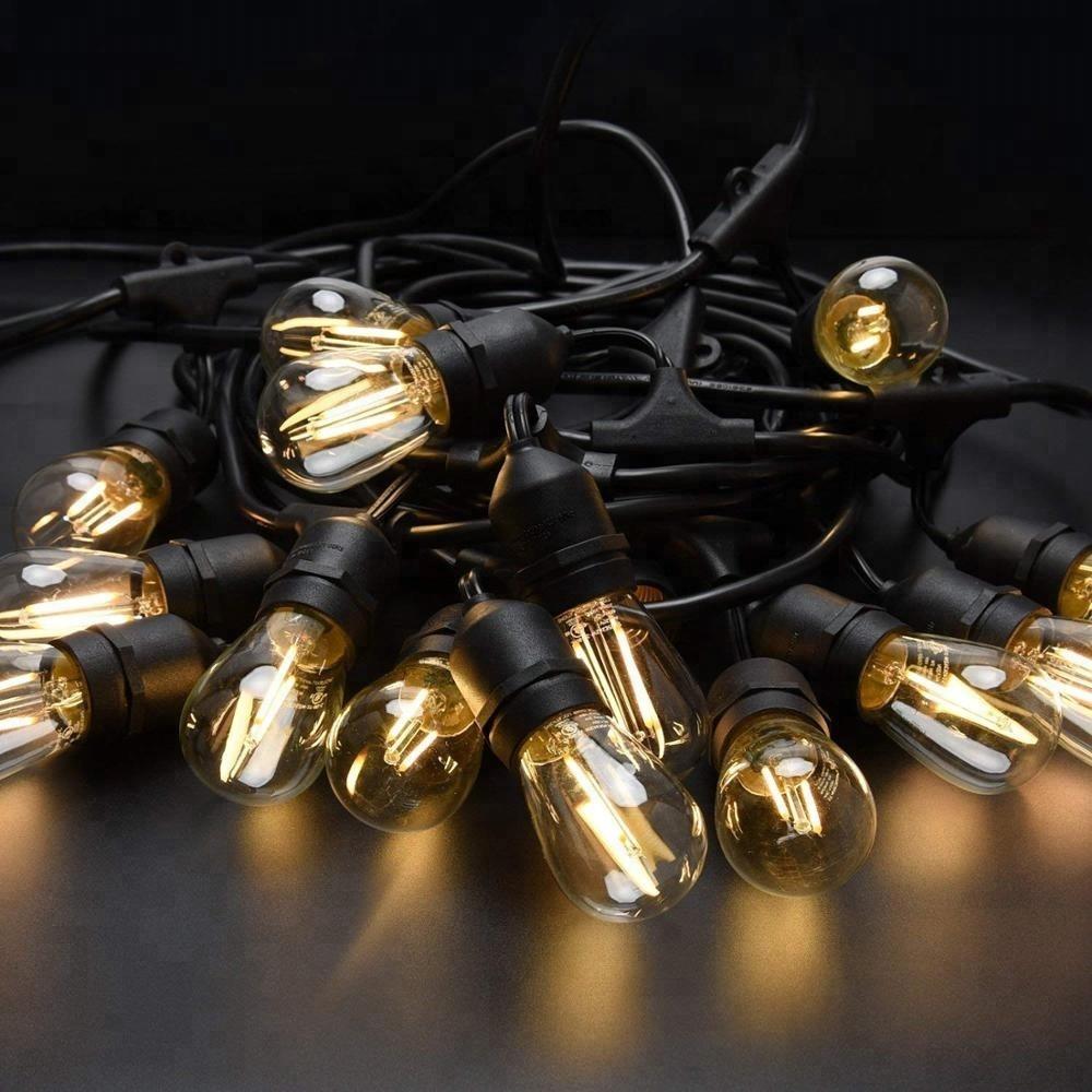 33ft 48ft 100ft globe handing sockets led christmas lights outdoor lighting