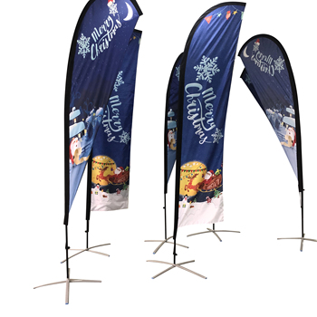 Advertising Outdoor Custom Beach Feather Swooper Teardrop Flag
