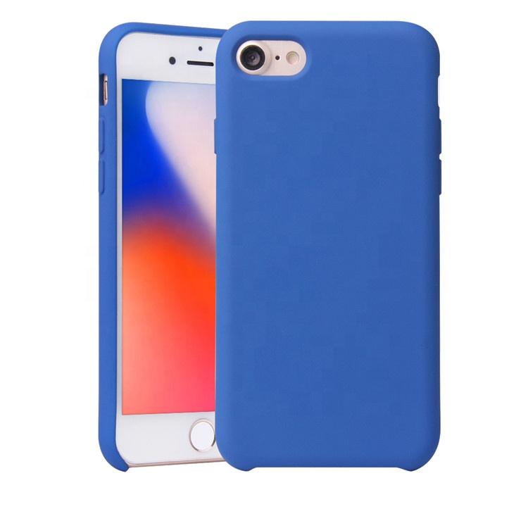 2019 Saiboro Factory Price Rubber Mobile Case For iphone 7 8 Slim Bumper Case Liquid Silicon фото