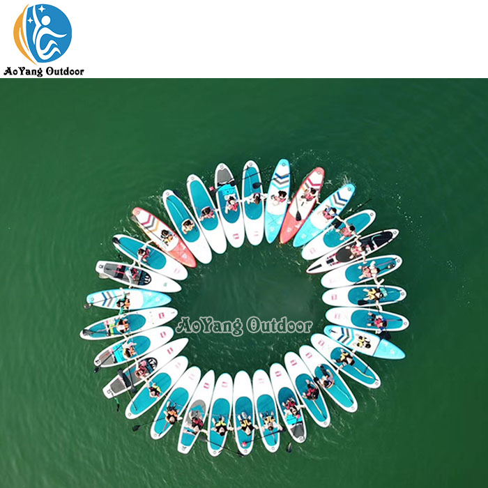 Crazy Water Games Inflatable SUP Paddle Boards for Team Build