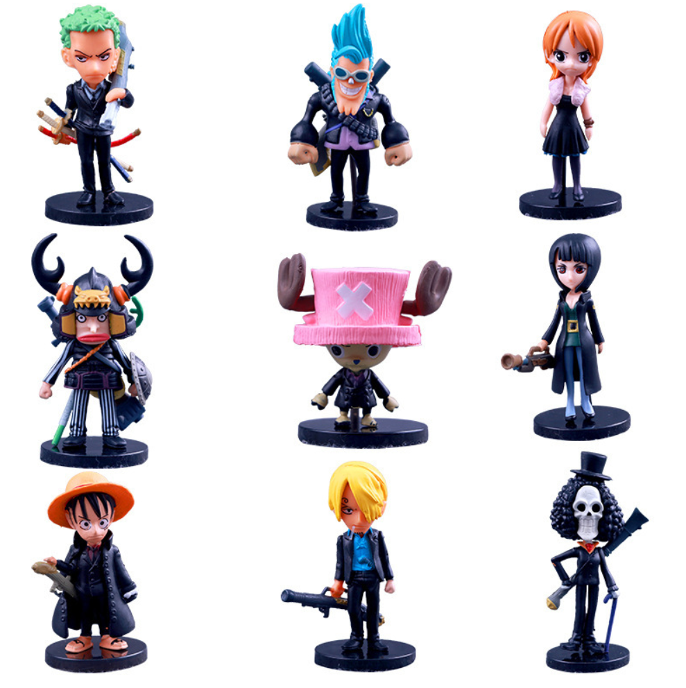 New arrival 65th gen 9 <strong>models</strong> per set anime cartoon pvc one piece mini DIY action figure for decoration