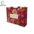 China manufacturer super quality shopping tote fabric flower printed laminated non woven bag