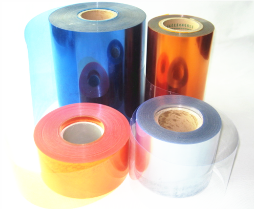 Orange plastic <strong>pvc</strong>/pe transparent rigid film for blister packing