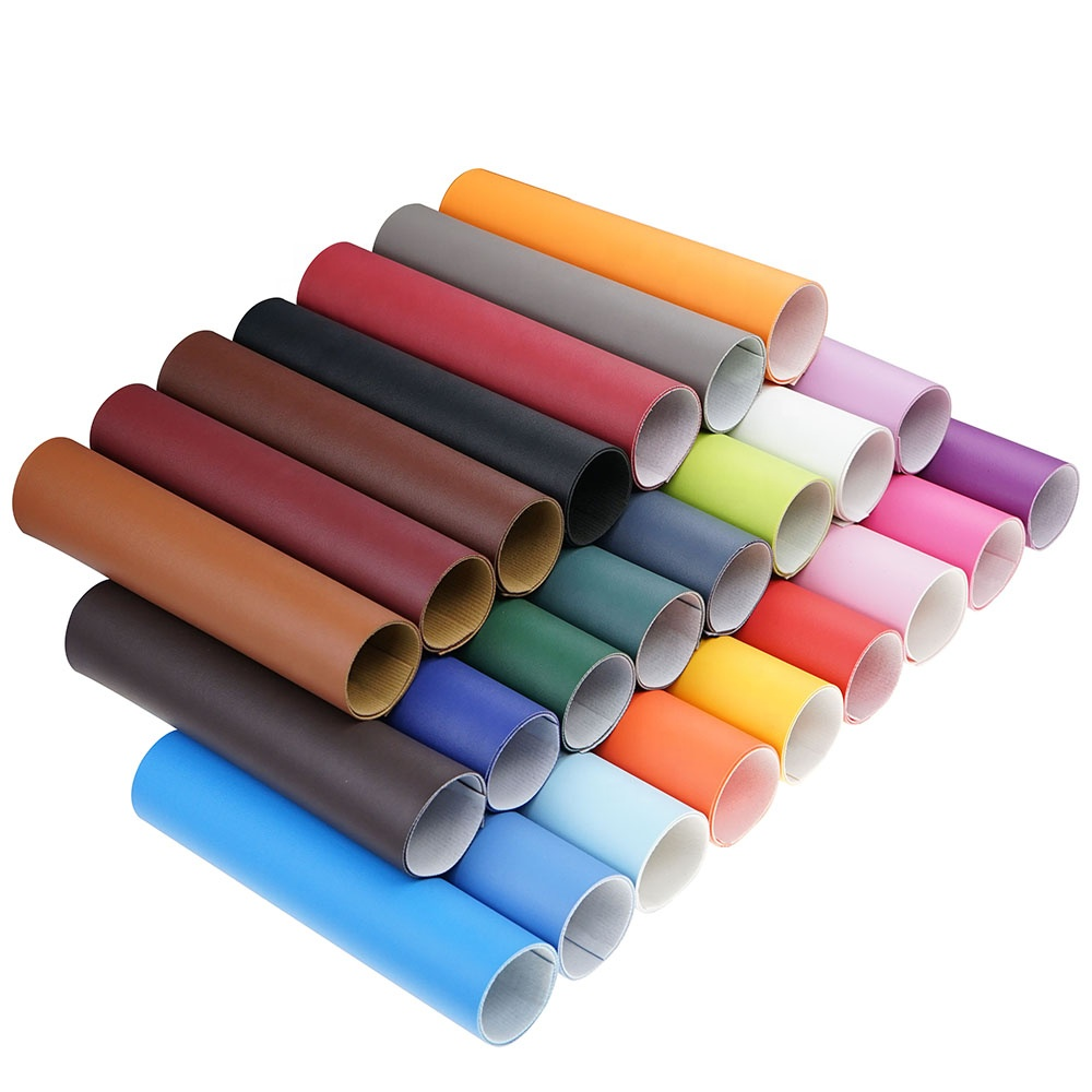 A4 Size Solid Color Skin Grain Texture Faux Leather Fabric Sheets for Sofa Earrings Hair Bows Headband Wallet Making