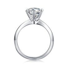 Großhandel 925 splitter <span class=keywords><strong>finger</strong></span> ring runde 2 karat 8mm moissanite solitaire ring