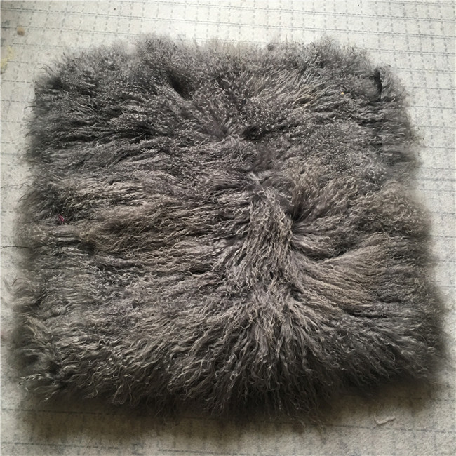 Long curly custom service mongolian lamb fur plate