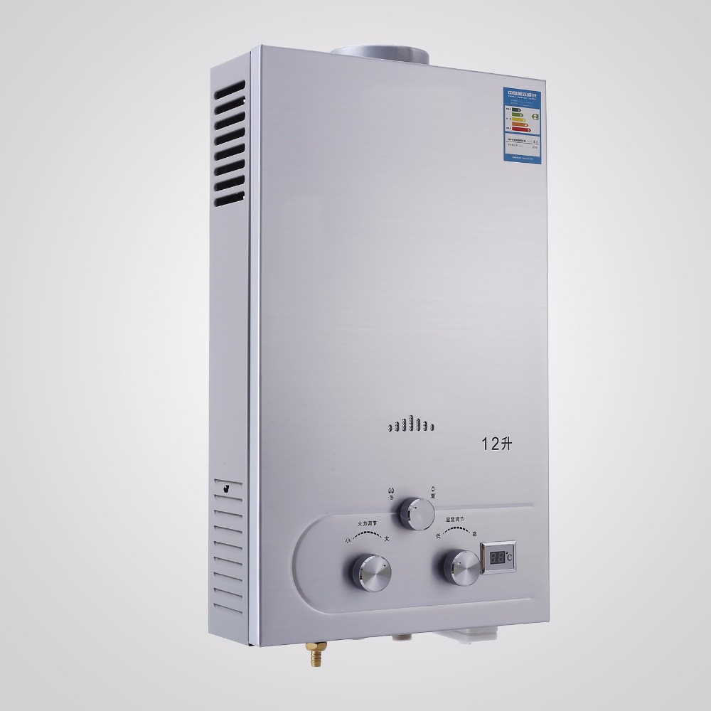 Stainless Steel 12L CNG Gas <strong>Hot</strong> <strong>Water</strong> Heater Propane Tankless <strong>Instant</strong> <strong>Boiler</strong>
