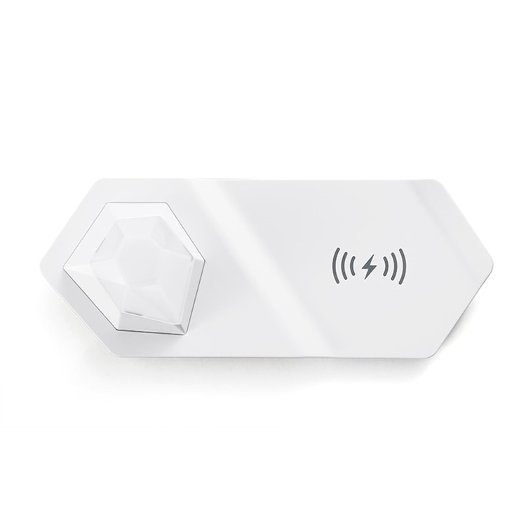 Portable 2 in 1 high quality 10w wireless mobile phone charger with night light