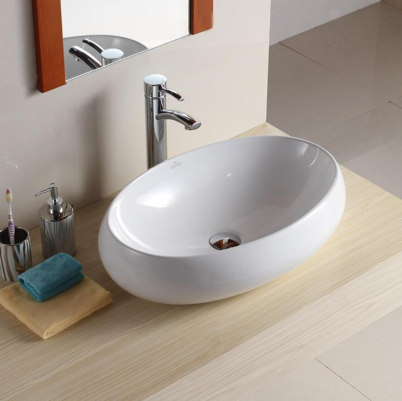 Bathroom ceramic wash sink set