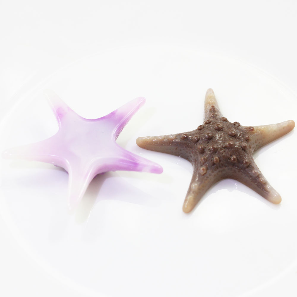Wholesale Colorful Simple Fancy Star Fish Flat Back Resin Bead for Craft Holiday Decoration Ornament