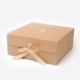 Custom Big Dress Clothing Recycle Cardboard Folding Kraft Paper Logo Gift Box With Magnetic Closure Lid