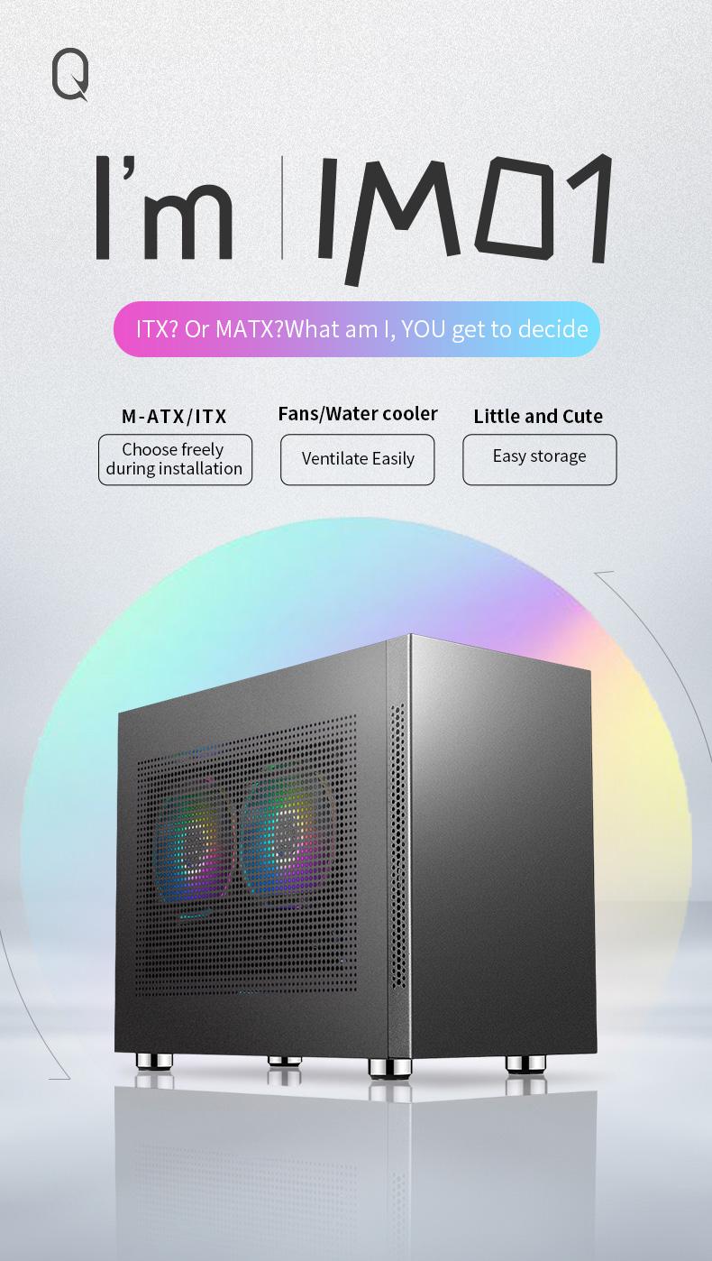 SAMA IM01 Miễn Phí Phong Cách Pc Hỗ Trợ Tủ MATX Hoặc ITX Chơi Game Trường Hợp Máy Tính