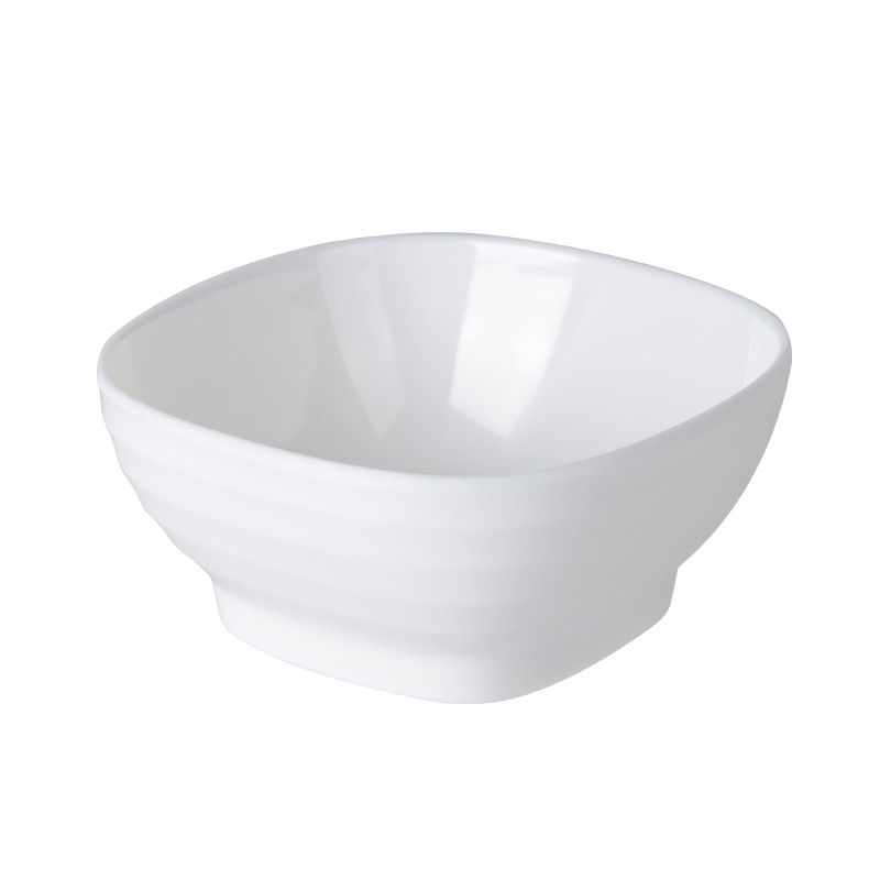 Durable Melamine Square Snack Bowl, Restaurant Unbreakable Plastic Appetisers Chilled Salad Bowls
