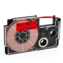 Produsen Profesional 6 Mm XR-6RD Hitam Merah <span class=keywords><strong>Kompatibel</strong></span> Casio Tape Cartridge untuk Printer