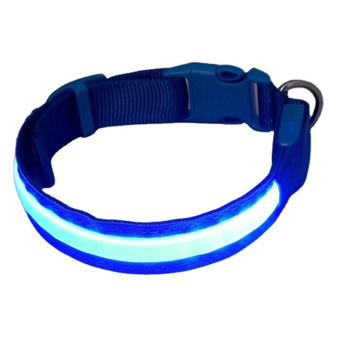 Rilis Cepat Lampu LED Hewan Peliharaan Kucing Anjing Kerah Mengarah Safety Harness Pelatihan Cahaya Kalung Berkedip Lampu Up XS/S/M/L/XL untuk Anjing