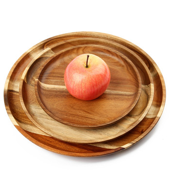 round bamboo wood plates for baby food