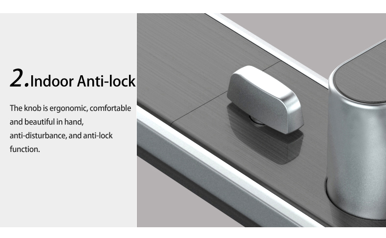 Classic style smart anti-pry anti-theft Intelligent Magnetic Smart Door lock with 5 bolt structure lock core
