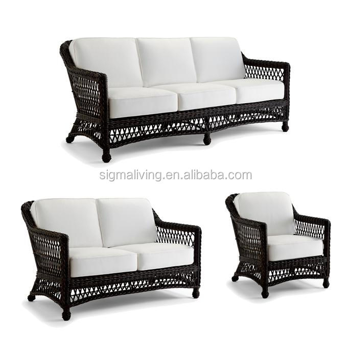New design outdoor garden leisure wicker rattan sofa set furniture for sale