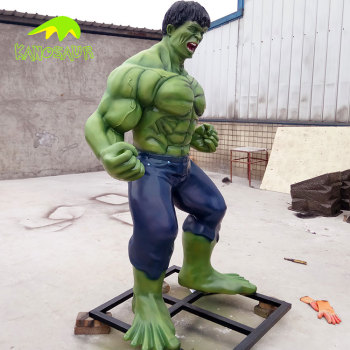 KANOSAUR4783 Good Quality Park fiberglass statuee sculpture The Hulk statue
