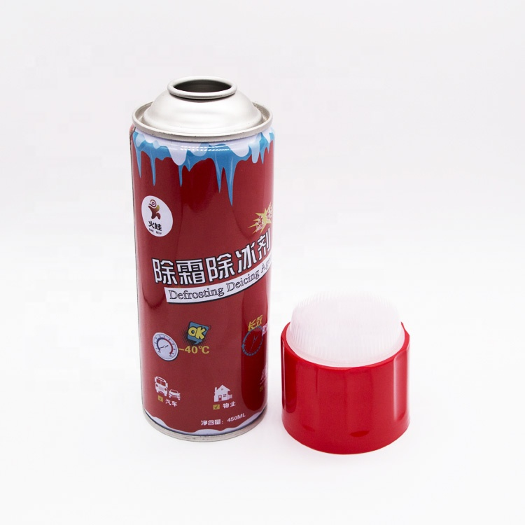 Guangzhou factory wholesale 65mm plastic cap with brush for empty aerosol can