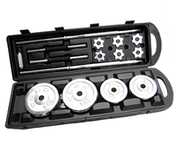 Adjustable Weight Price 50kg Chrome Dumbbell Set