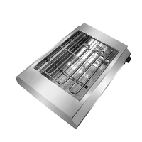 Commercial easily cleaned stainless steel electric barbecue grill oven for all kinds of food steak kebab seafood
