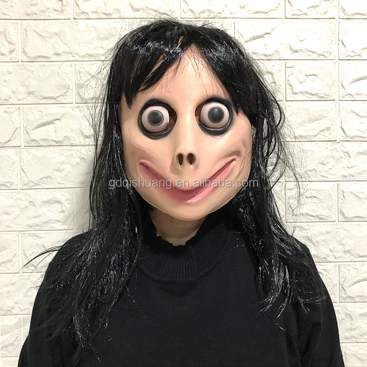 Horror Scary Creepy Party Novelty Halloween Costume MOMO Latex Mask customized rubber toy movie mask