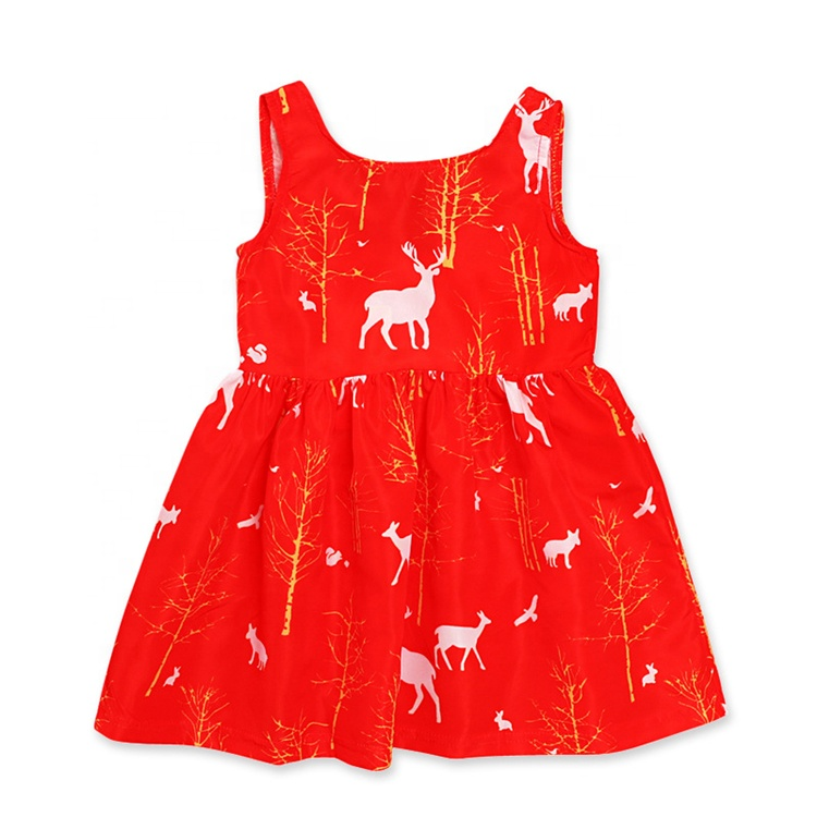 One Piece Christmas Baby Dress Party Christmas Baby Kid Girl Dress