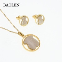 Wholesale Jewelry Supplies China Stainless Steel Jewelry Set Women Necklace Sets Jewelry
