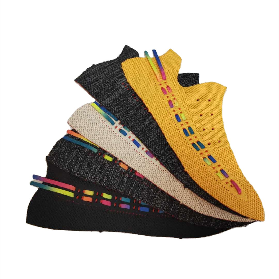 Comfortable Stretch Fly Knitting Vamp 3d Shoes Elastic Sport Flying Woven Shoes Uppers for Semi-finished Shoes